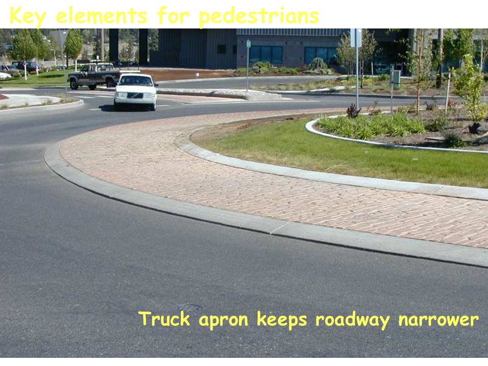 Key elements for pedestrians