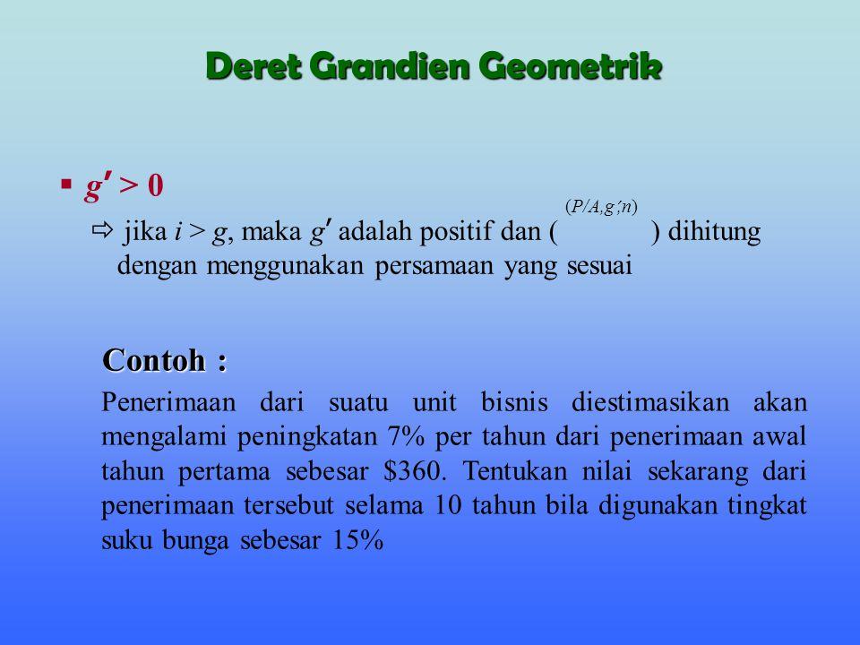 Deret Grandien Geometrik