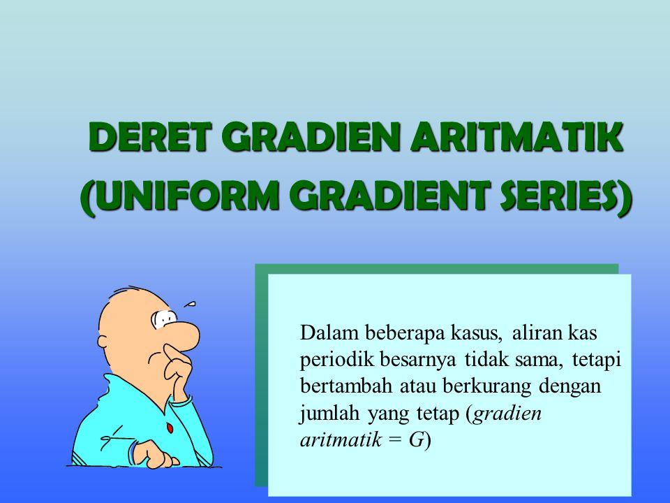 DERET GRADIEN ARITMATIK (UNIFORM GRADIENT SERIES)