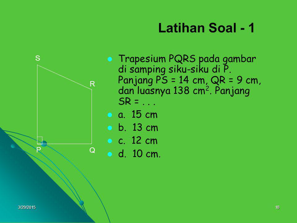 Latihan Soal - 1 P. Q. S. R.