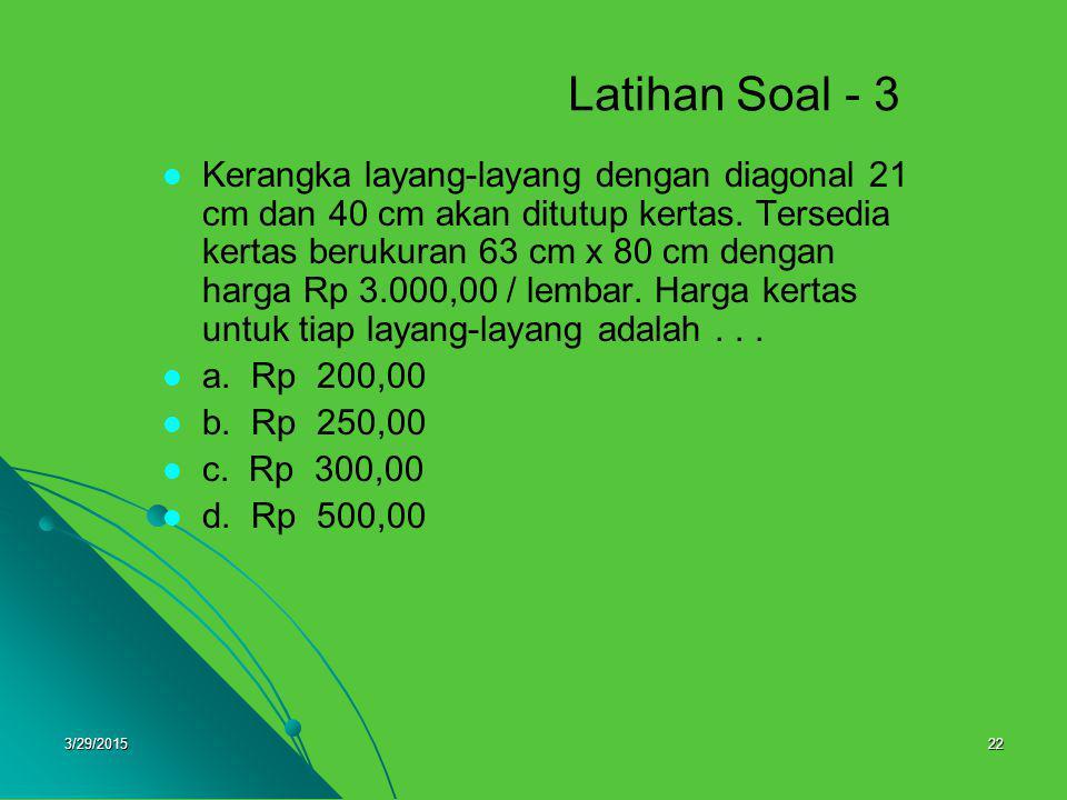 Latihan Soal - 3