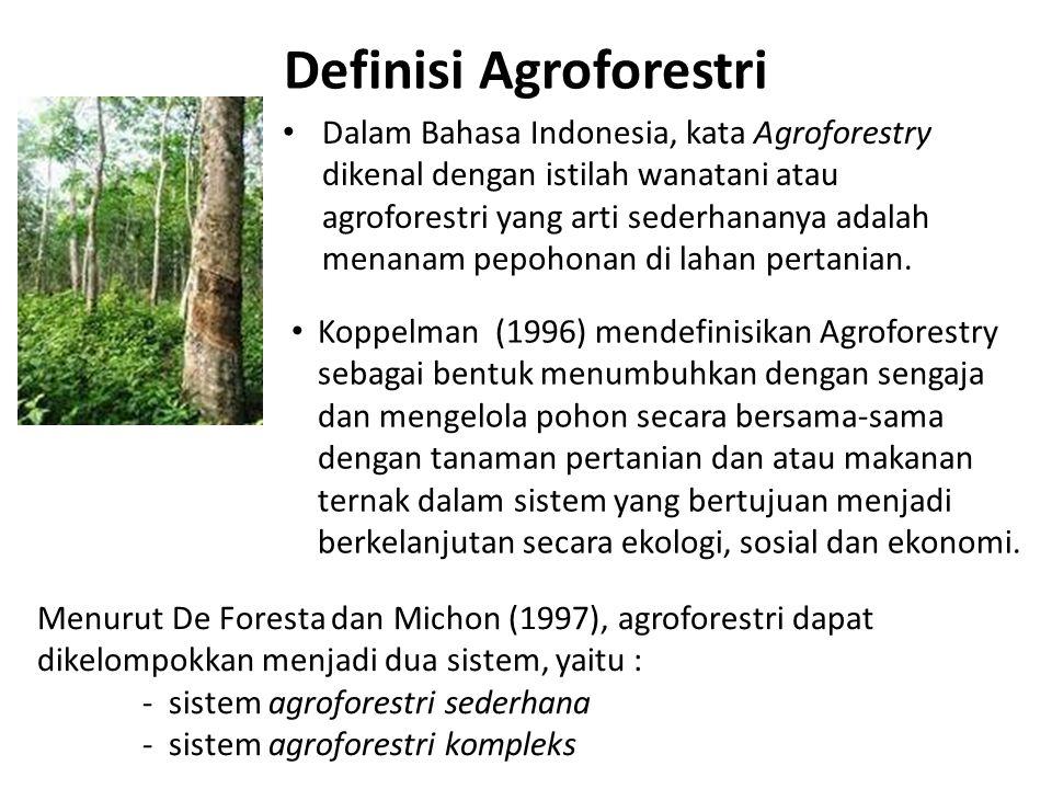 Definisi Agroforestri