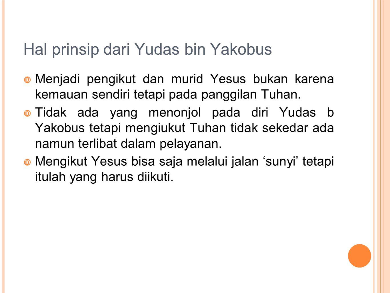 Hal prinsip dari Yudas bin Yakobus