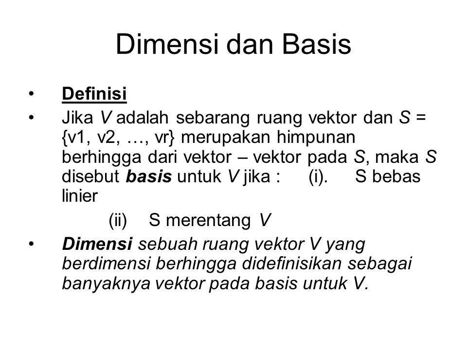 Dimensi dan Basis Definisi