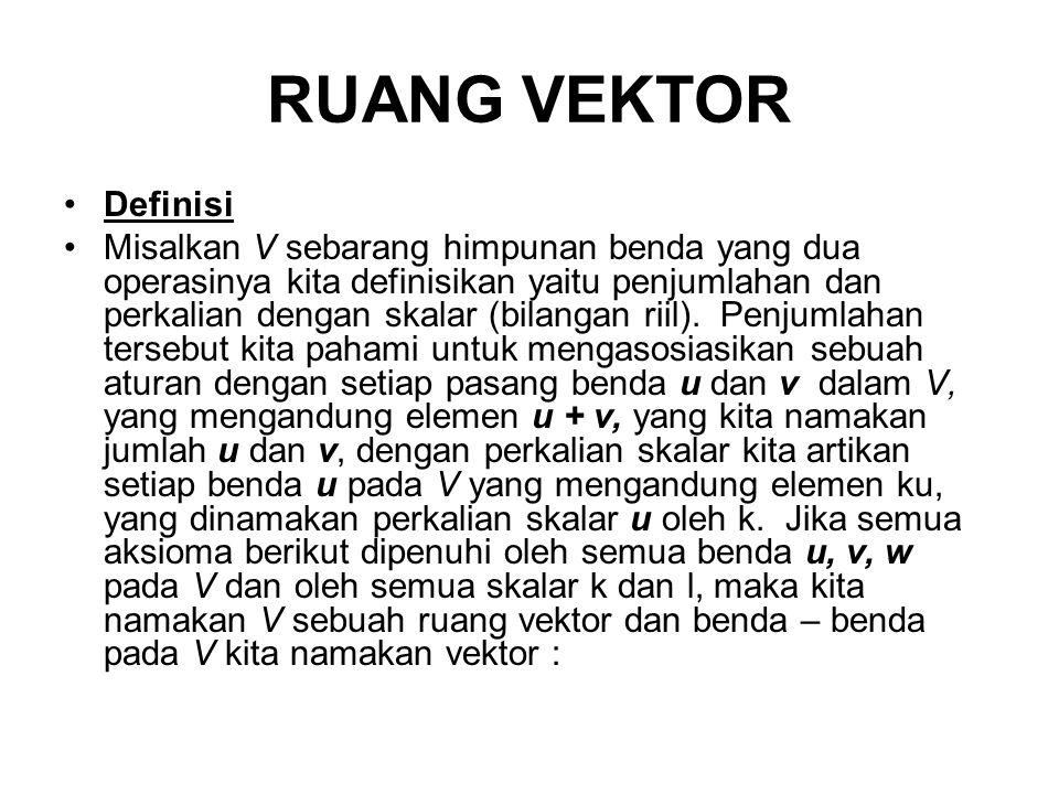RUANG VEKTOR Definisi.