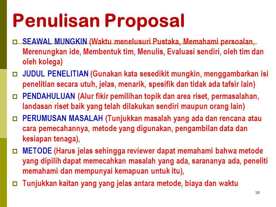 Penulisan Proposal