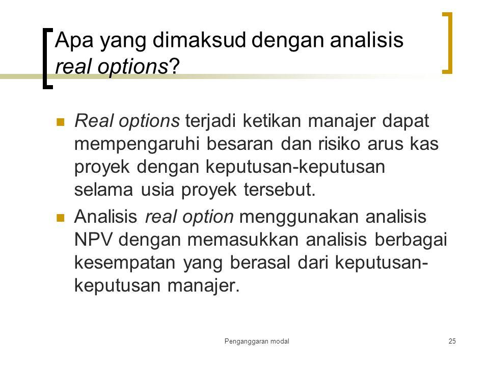 Apa yang dimaksud dengan analisis real options