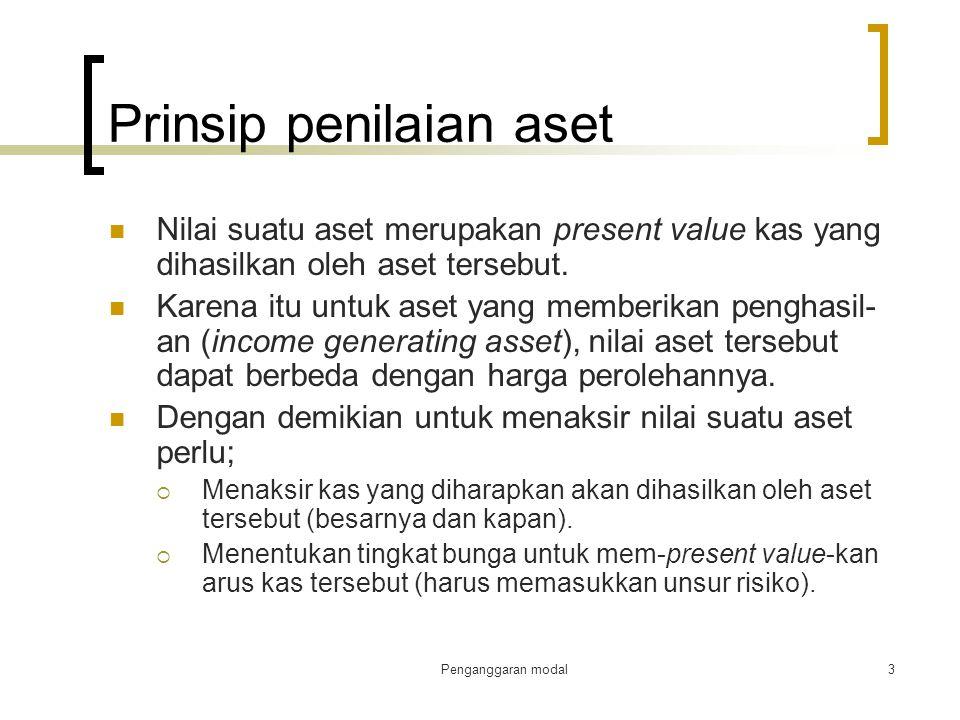Prinsip penilaian aset