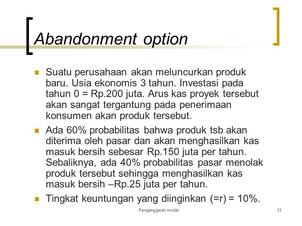 Abandonment option
