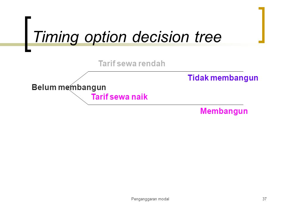 Timing option decision tree