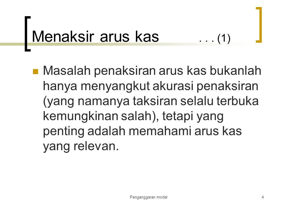 Menaksir arus kas . . . (1)