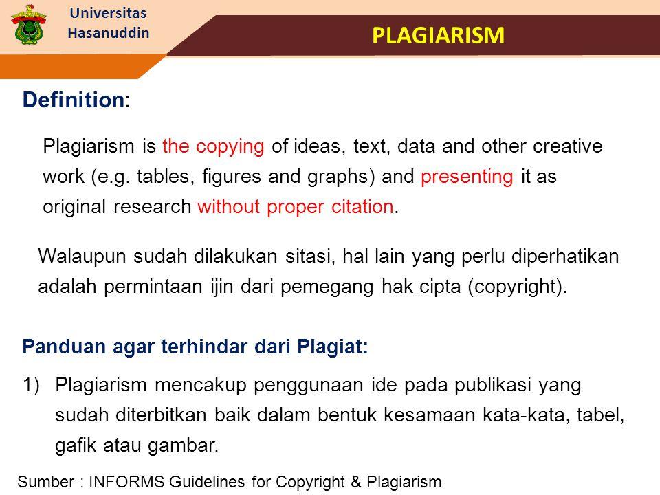 PLAGIARISM Definition: