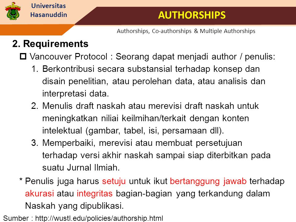 Authorships, Co-authorships & Multiple Authorships