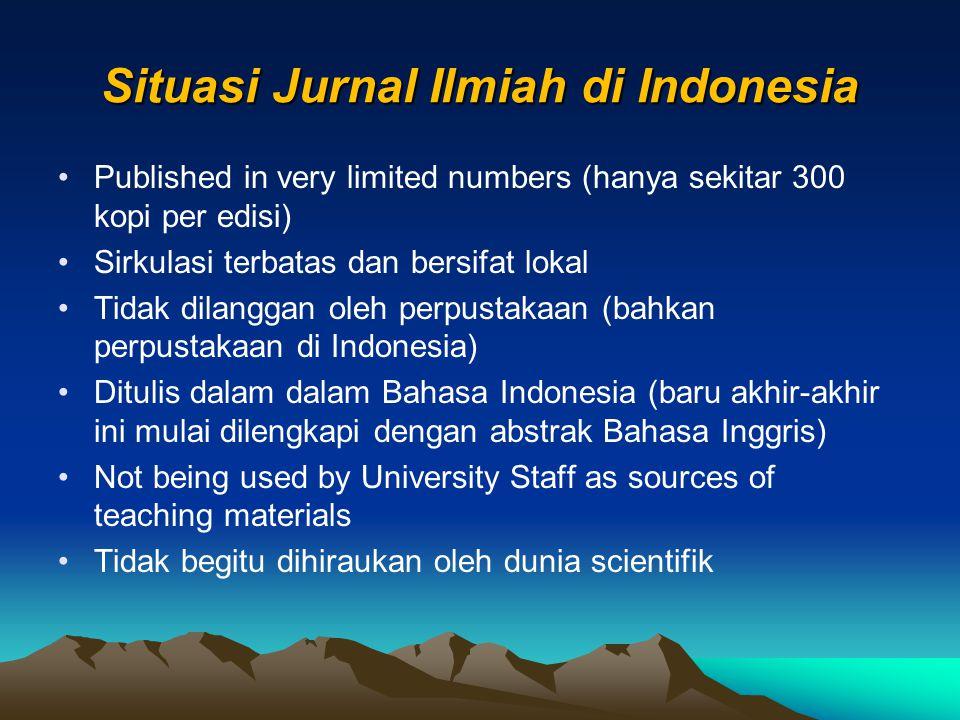 Situasi Jurnal Ilmiah di Indonesia