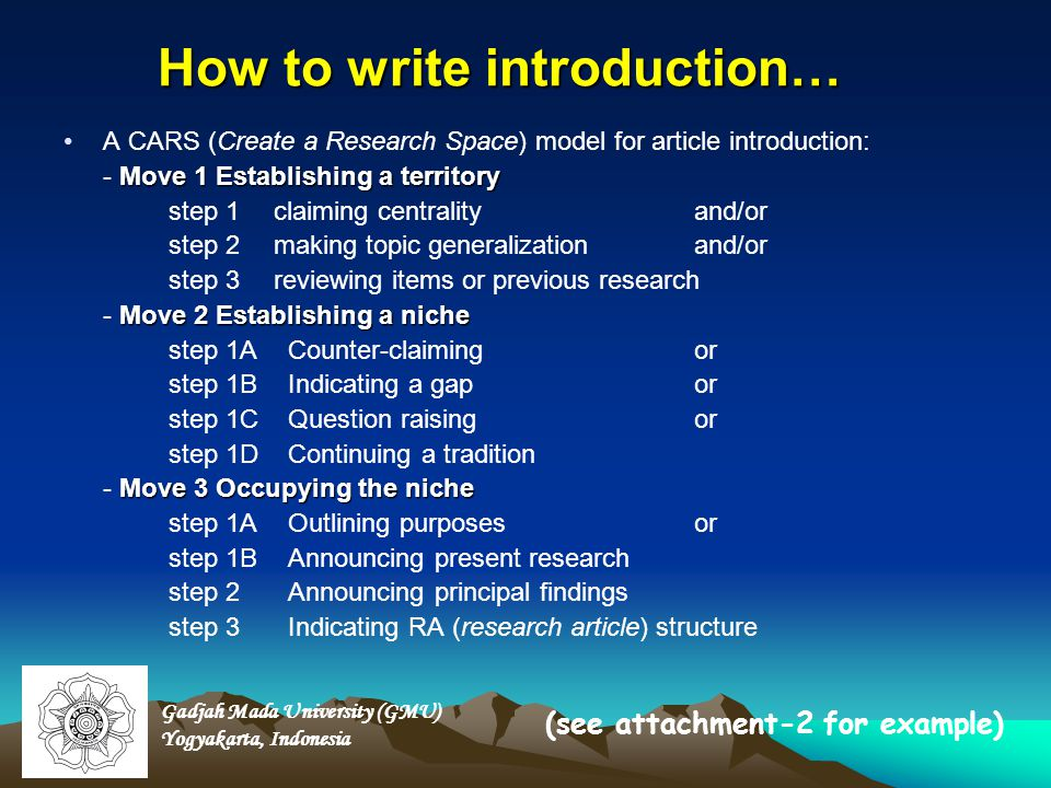 How to write introduction…