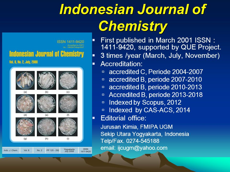 Indonesian Journal of Chemistry