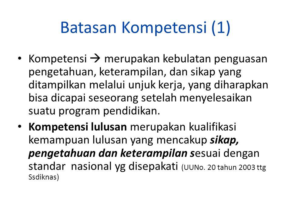 Batasan Kompetensi (1)