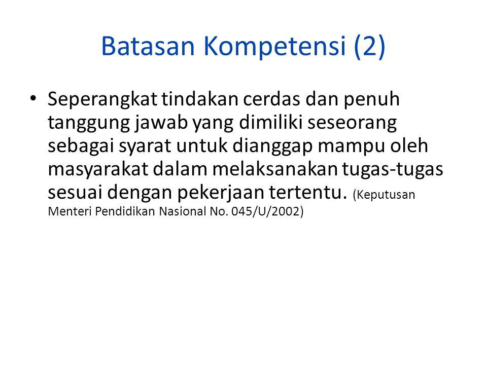 Batasan Kompetensi (2)