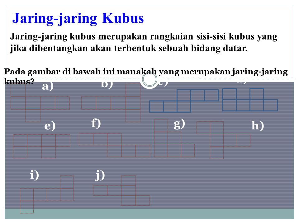 Jaring-jaring Kubus d) c) b) a) f) g) e) h) i) j)