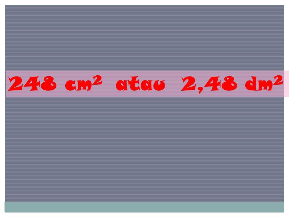 248 cm2 atau 2,48 dm2