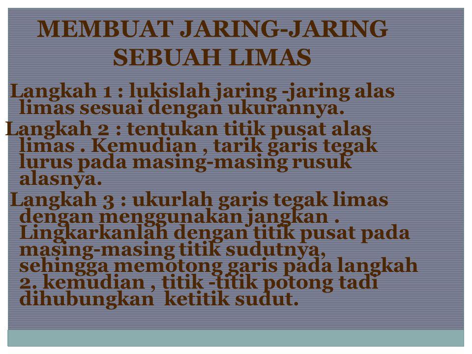 MEMBUAT JARING-JARING SEBUAH LIMAS