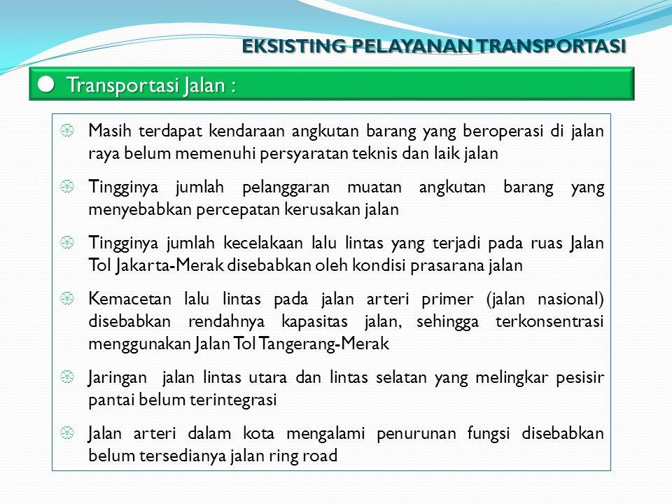 Transportasi Jalan : EKSISTING PELAYANAN TRANSPORTASI