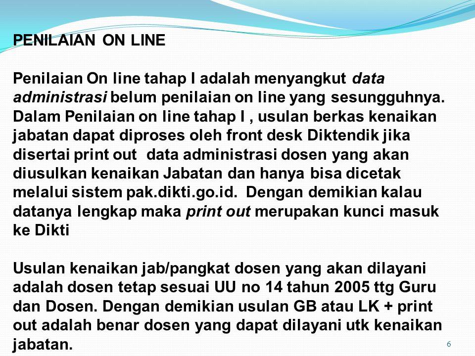 PENILAIAN ON LINE