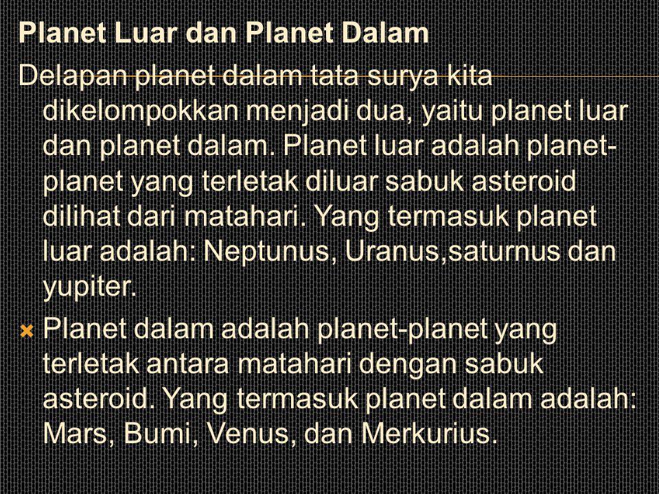 Planet Luar dan Planet Dalam