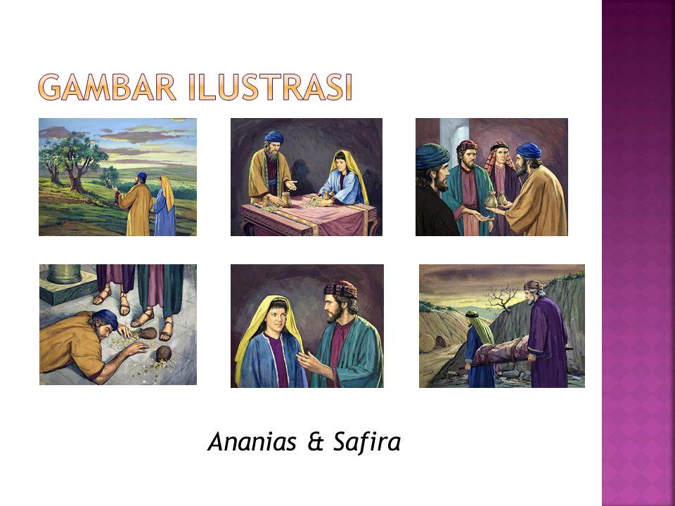 Gambar ilustrasi Ananias & Safira