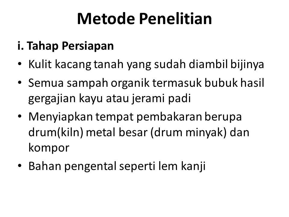 Metode Penelitian i. Tahap Persiapan