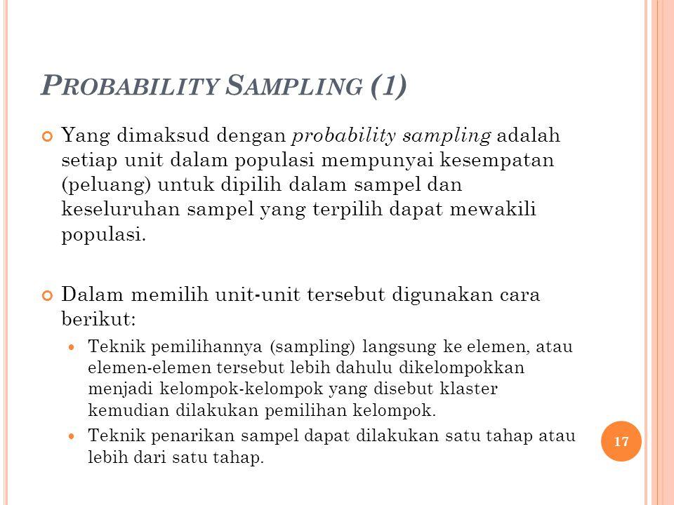 Probability Sampling (1)