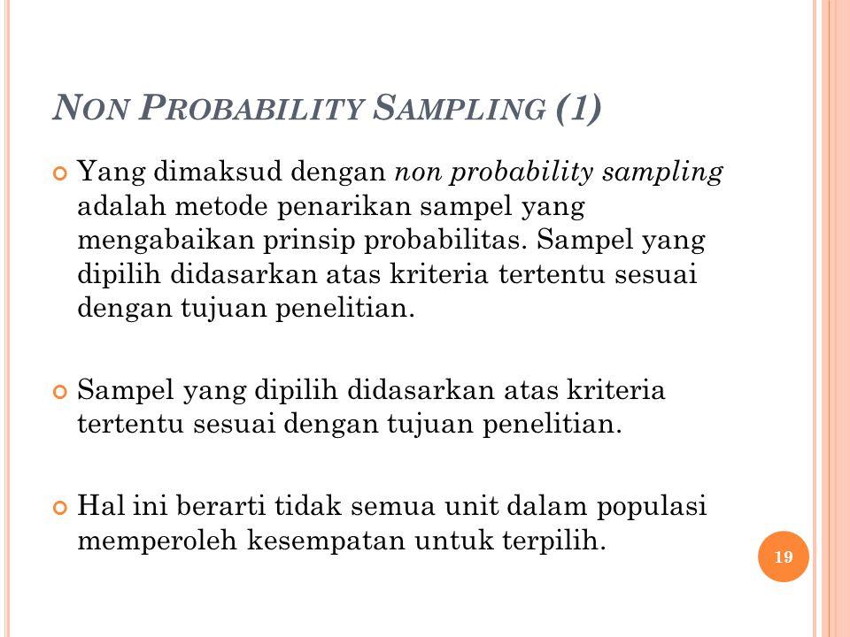 Non Probability Sampling (1)
