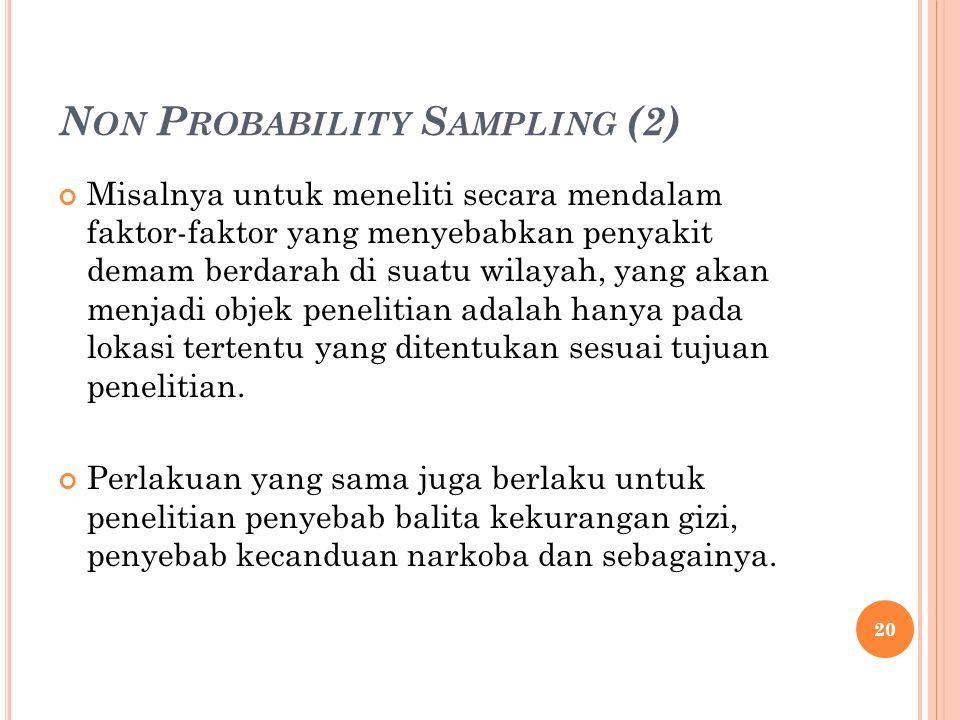 Non Probability Sampling (2)