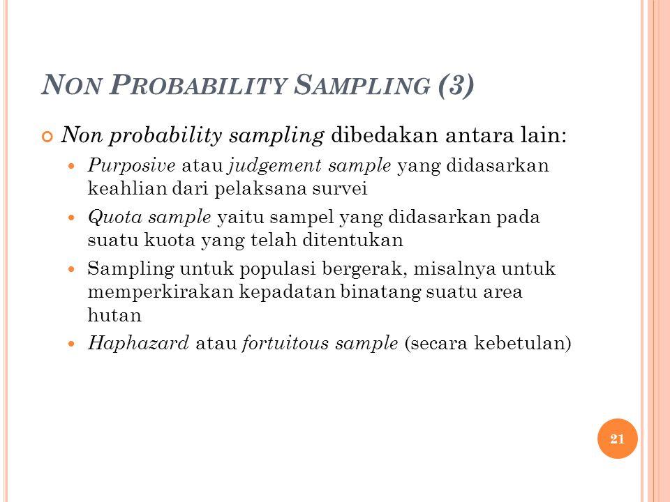 Non Probability Sampling (3)