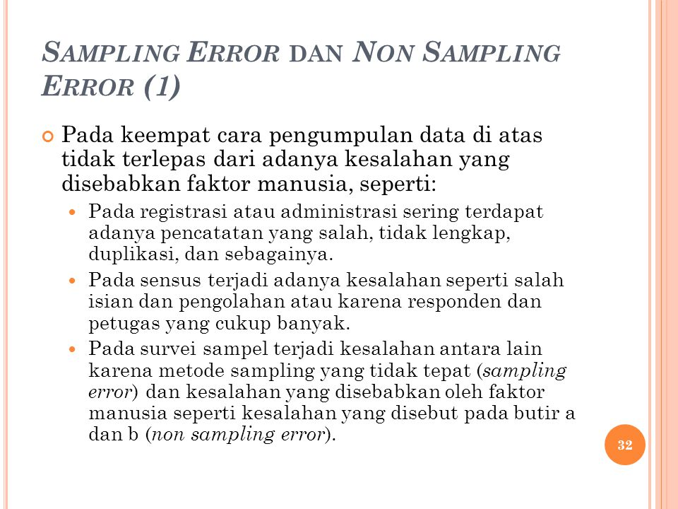 Sampling Error dan Non Sampling Error (1)