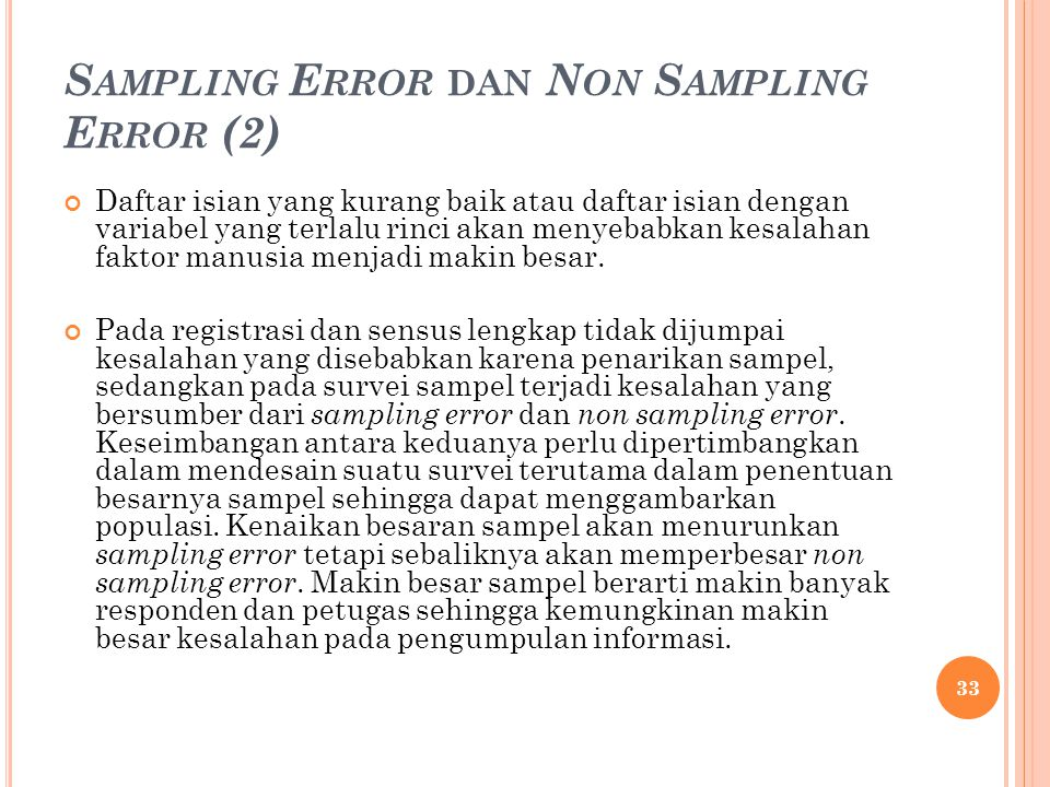 Sampling Error dan Non Sampling Error (2)
