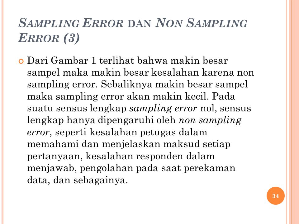 Sampling Error dan Non Sampling Error (3)