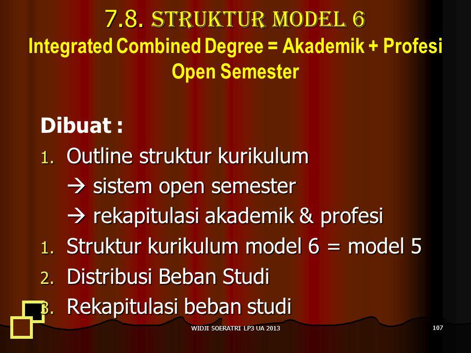 7.8. Struktur Model 6 Integrated Combined Degree = Akademik + Profesi Open Semester