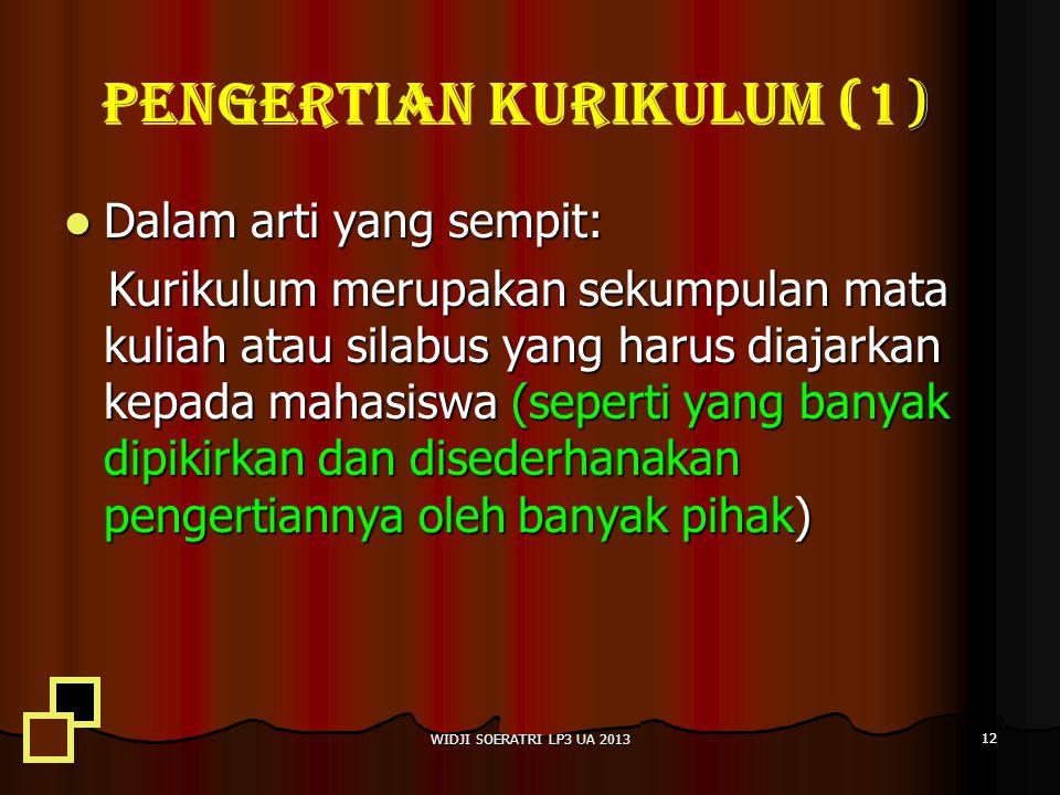 PENGERTIAN KURIKULUM (1)