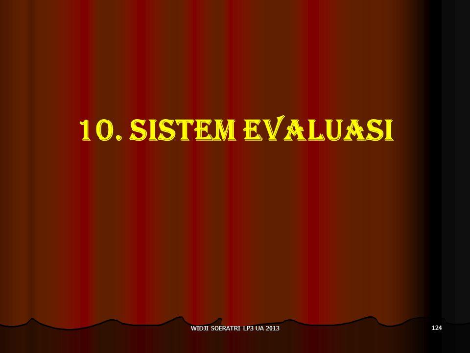 10. SISTEM EVALUASI WIDJI SOERATRI LP3 UA 2013