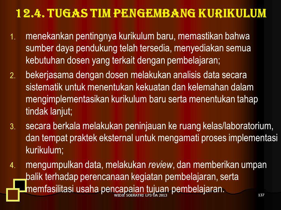 12.4. TUGAS TIM PENGEMBANG KURIKULUM