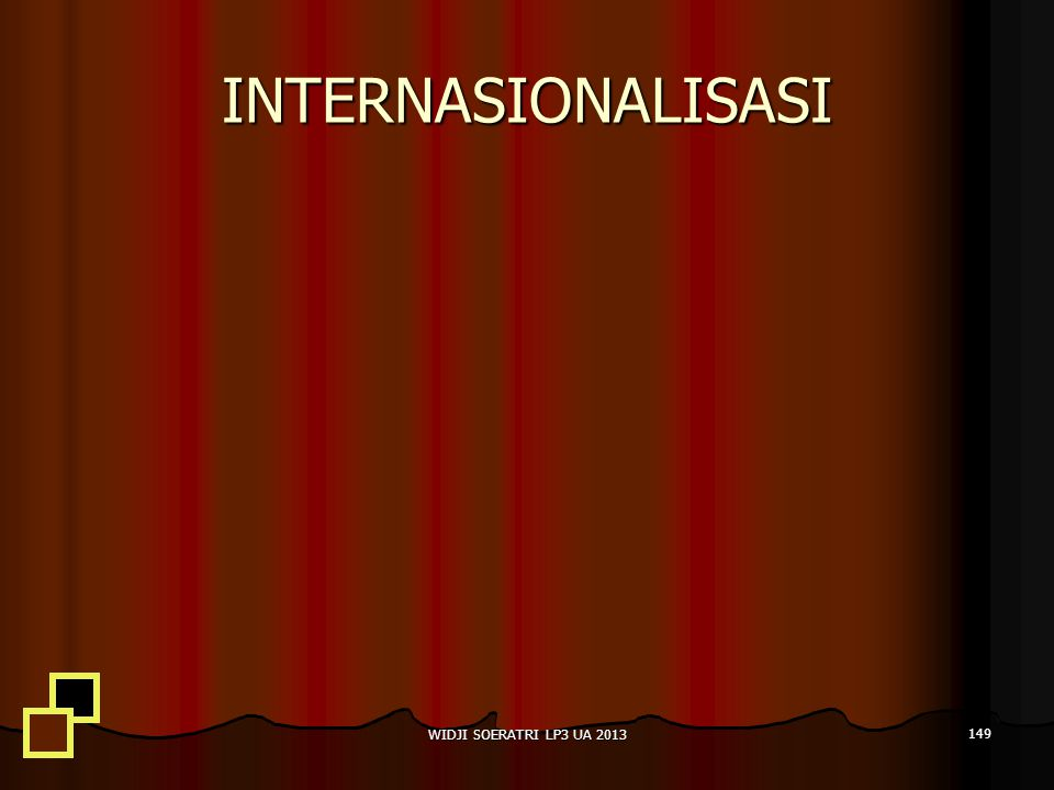 INTERNASIONALISASI WIDJI SOERATRI LP3 UA 2013