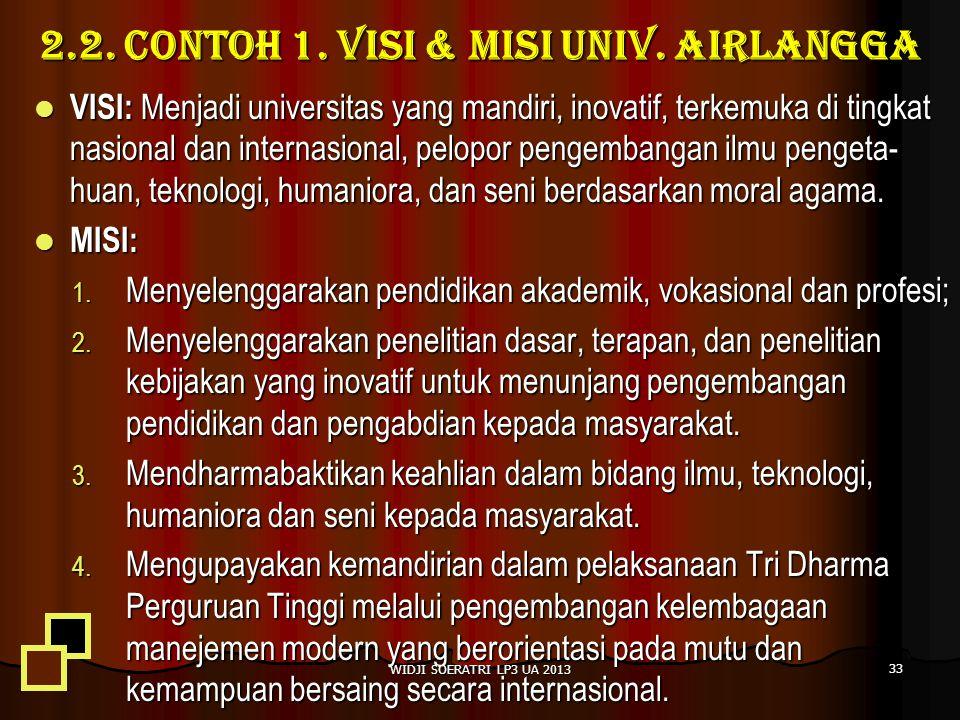 2.2. Contoh 1. Visi & Misi Univ. Airlangga