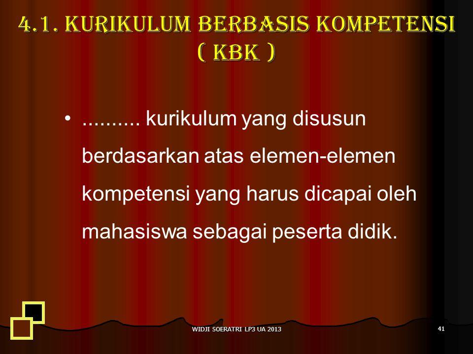 4.1. Kurikulum berbasis kompetensi ( kbk )