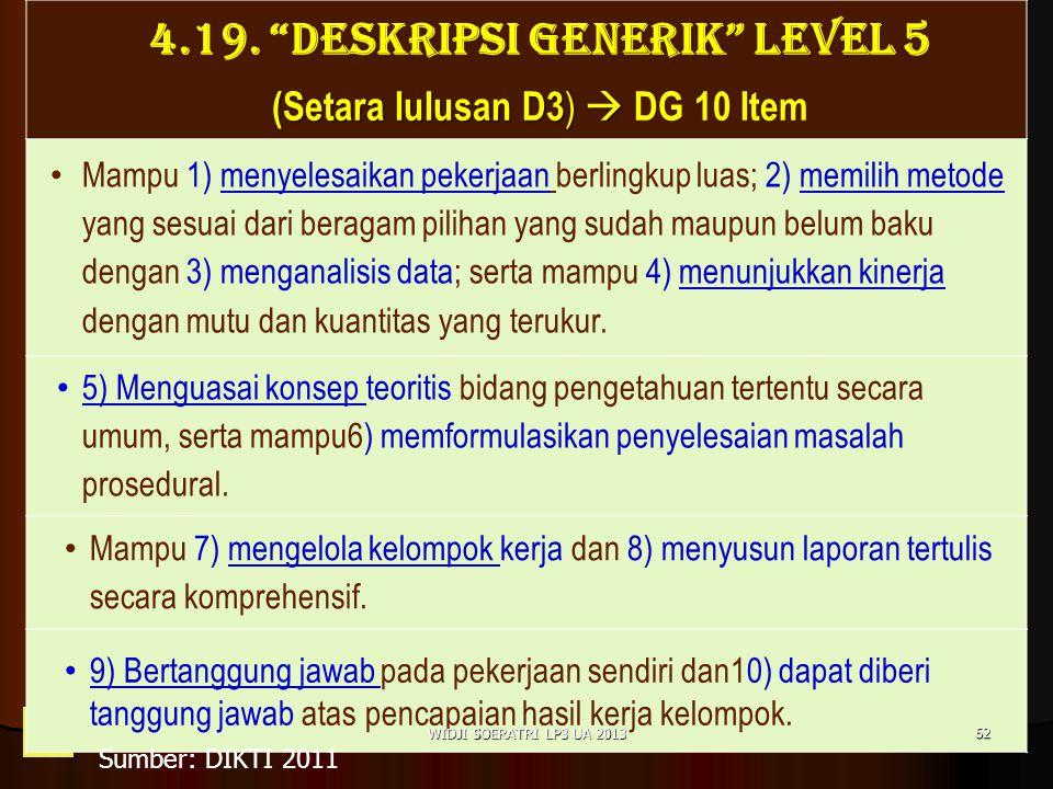 4.19. DESKRIPSI GENERIK LEVEL 5