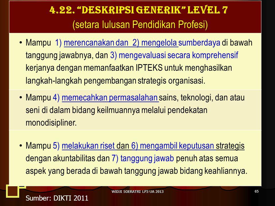 4.22. DESKRIPSI GENERIK LEVEL 7