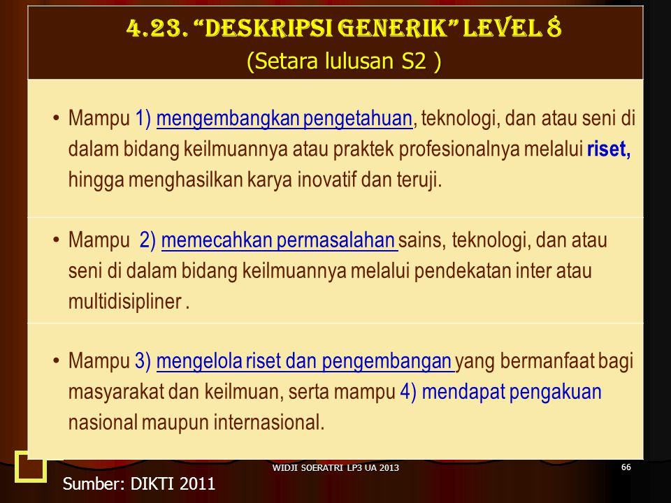 4.23. DESKRIPSI GENERIK LEVEL 8