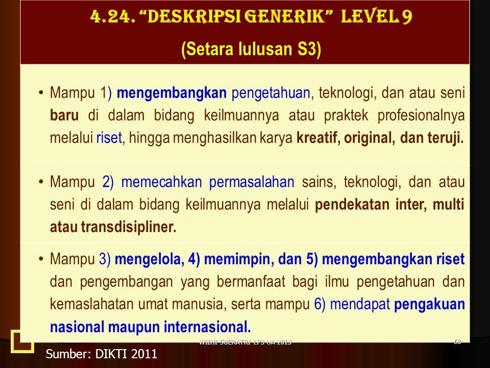 4.24. DESKRIPSI GENERIK LEVEL 9
