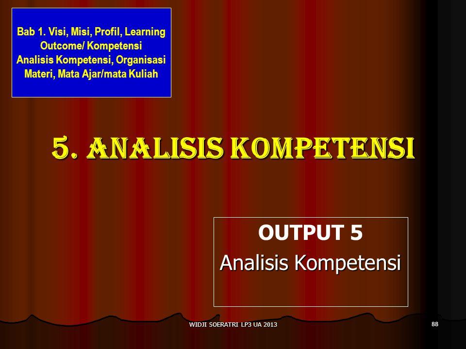 OUTPUT 5 Analisis Kompetensi