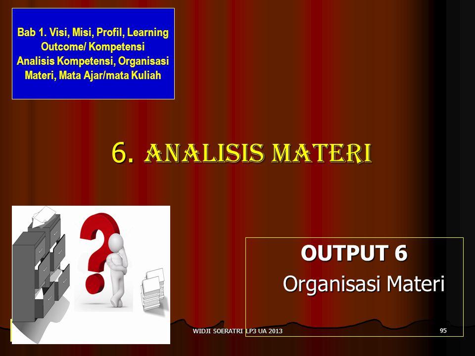 6. Analisis materi OUTPUT 6 Organisasi Materi